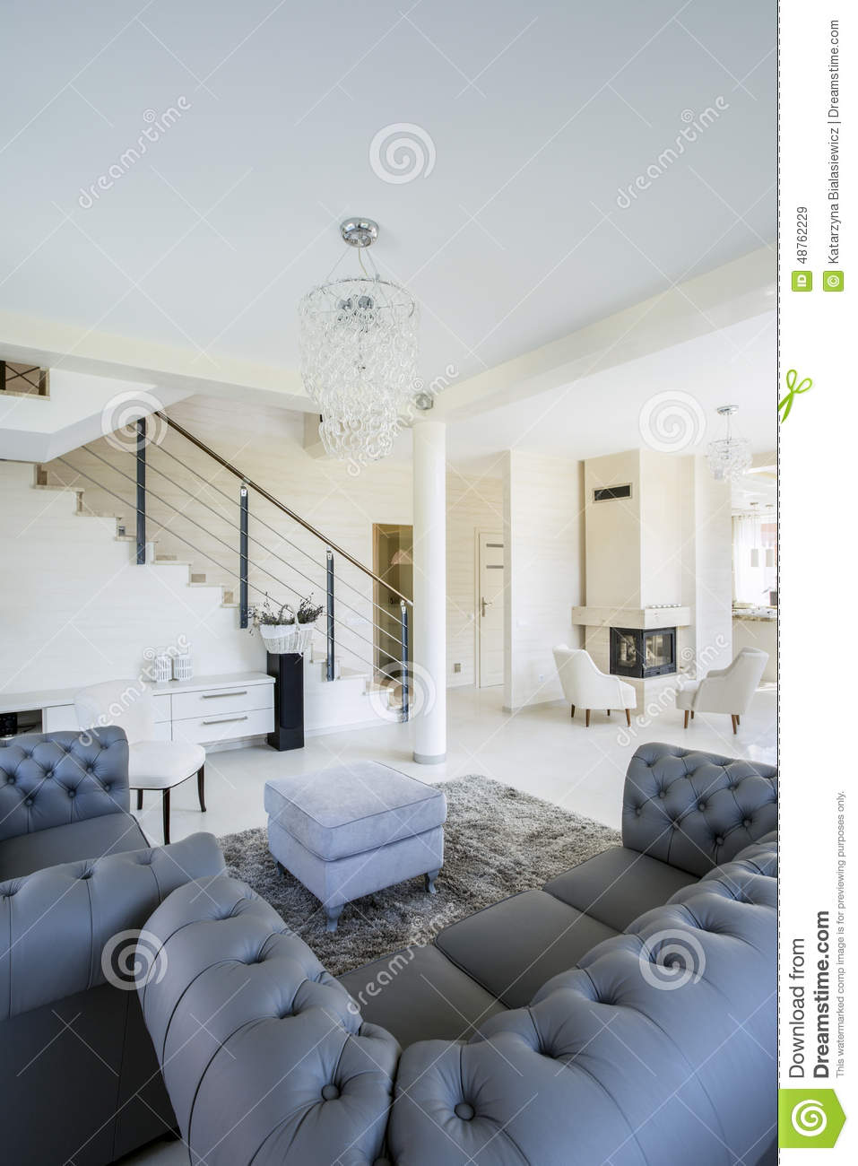 Open space in modern designed house stock photo for Open space inside a building