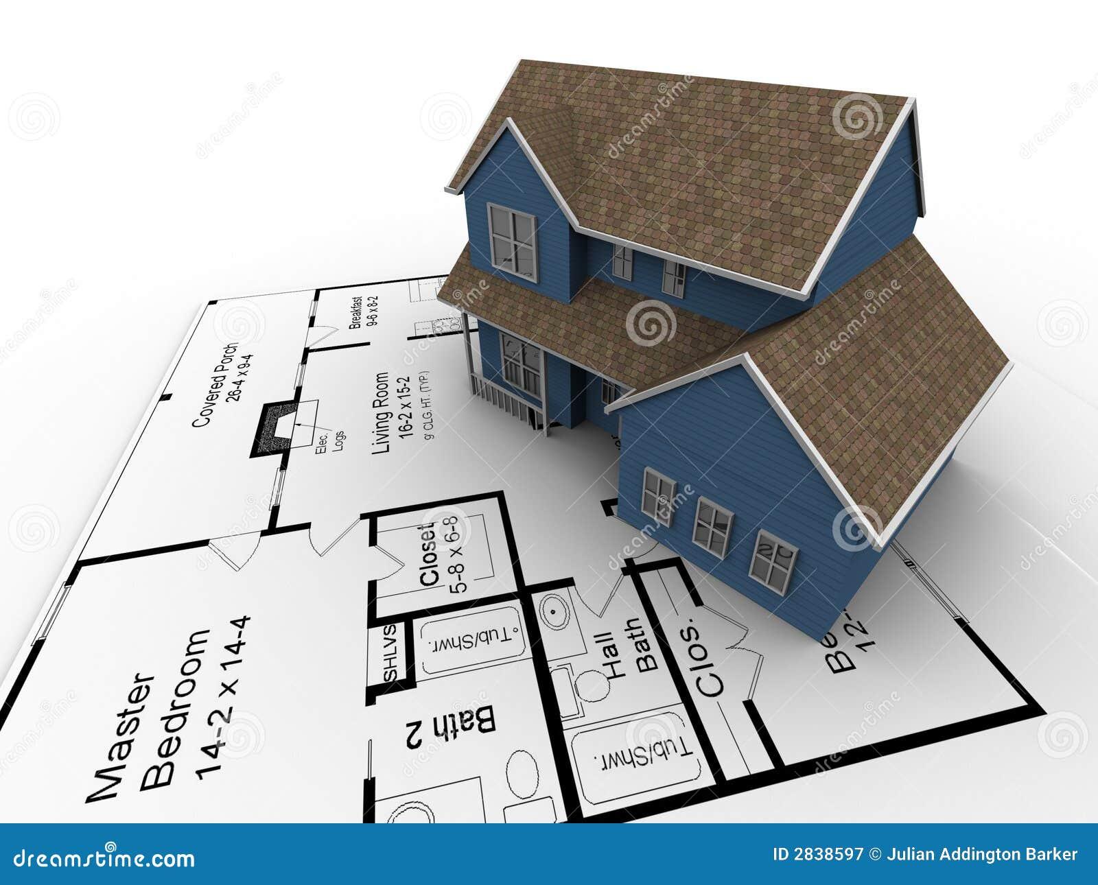 New house plans stock illustration. Illustration of home ... on new house design plans, floating dock plans, biltmore estate elevation plans, vardo camper plans,