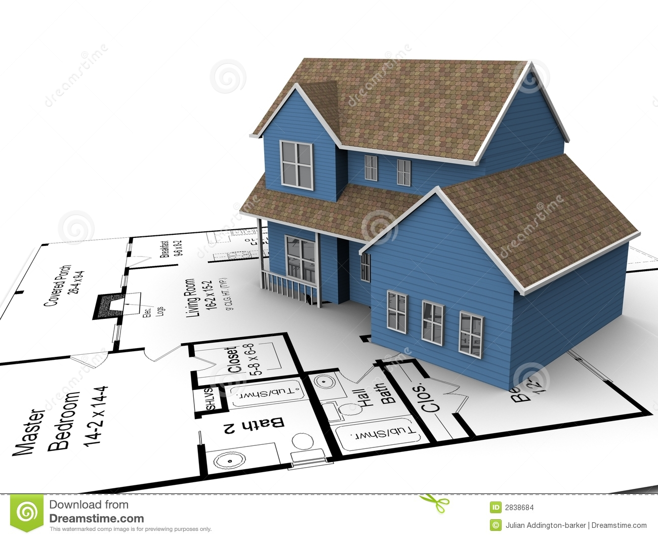 New house plans stock illustration illustration of family for New home construction floor plans