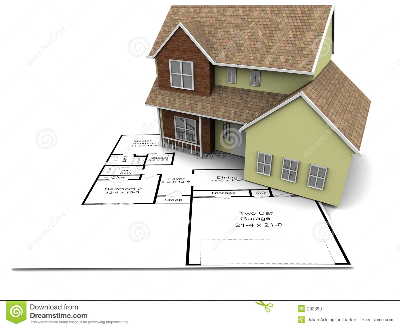 New house plans stock illustration illustration of house for Stock home plans