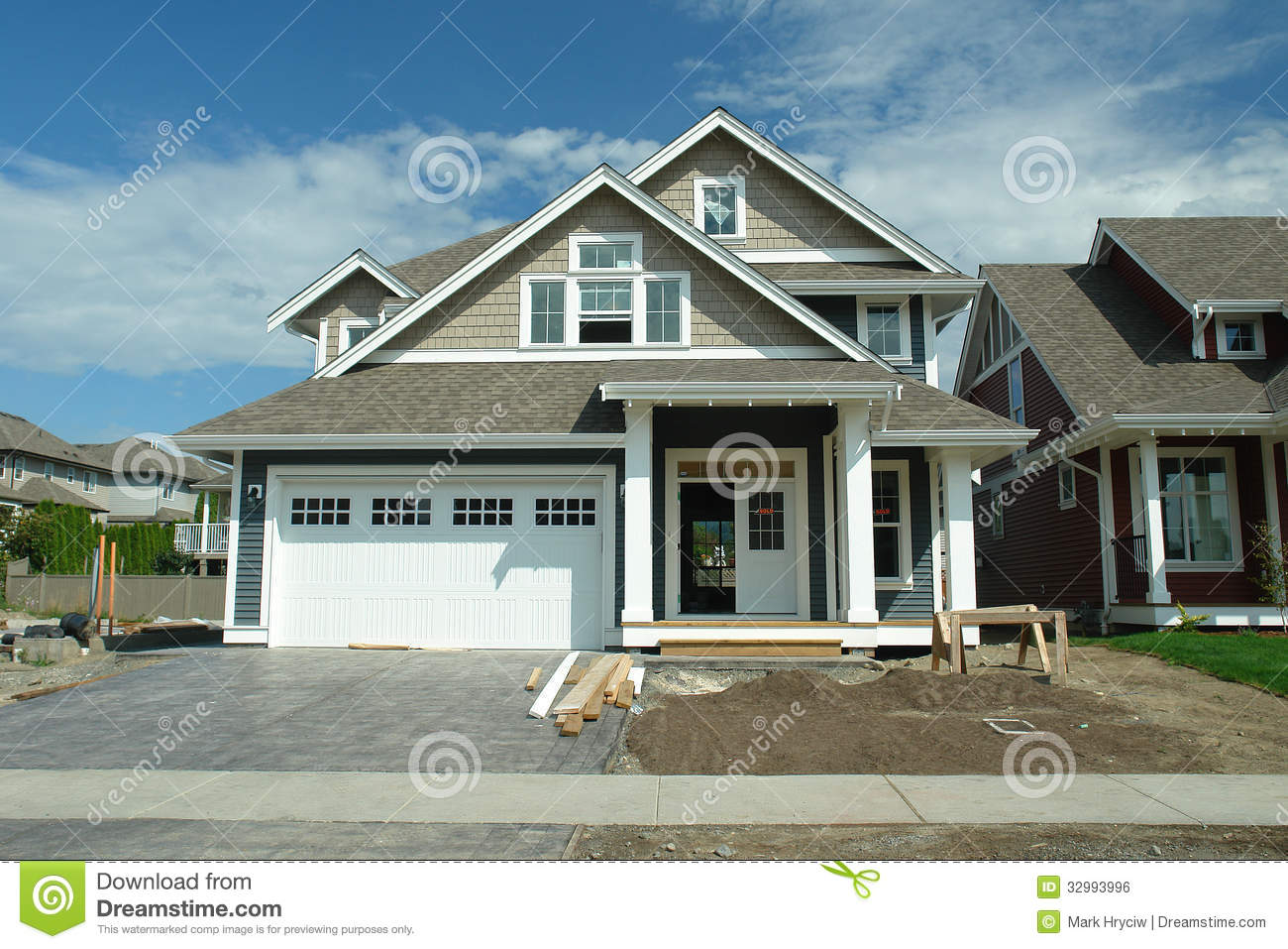 New house with sold sign stock photo image of house for New homes photos