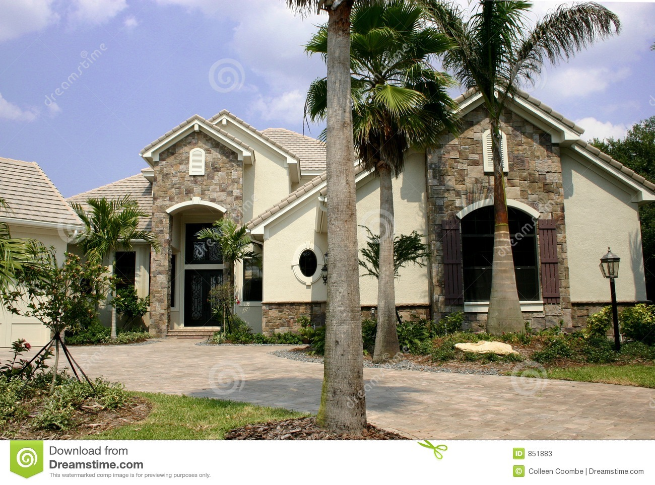 New house with stone accents stock image image 851883 for Stone accents