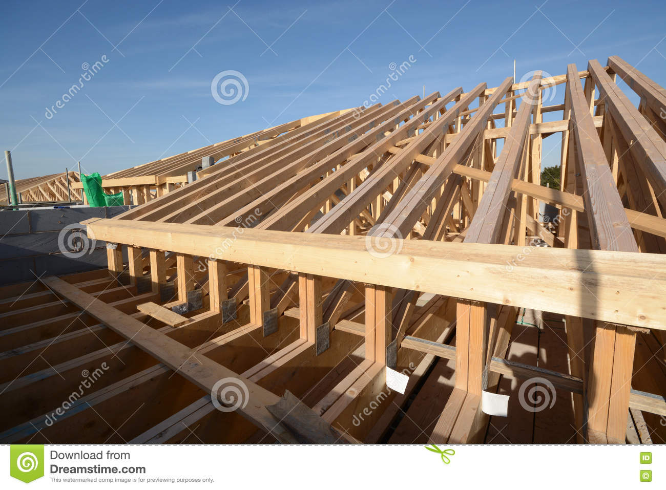 New house timber roofing first fix building construction for Modern home construction techniques