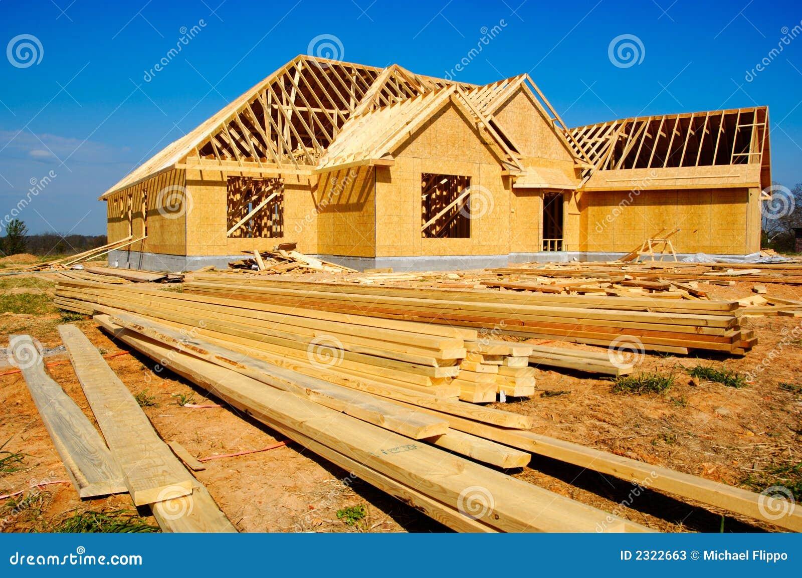 New House Under Construction Stock Image Image 2322663