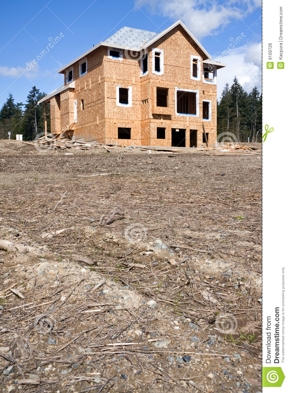 Download New House Under Construction Stock Photo - Image of roof, residential: 9109726