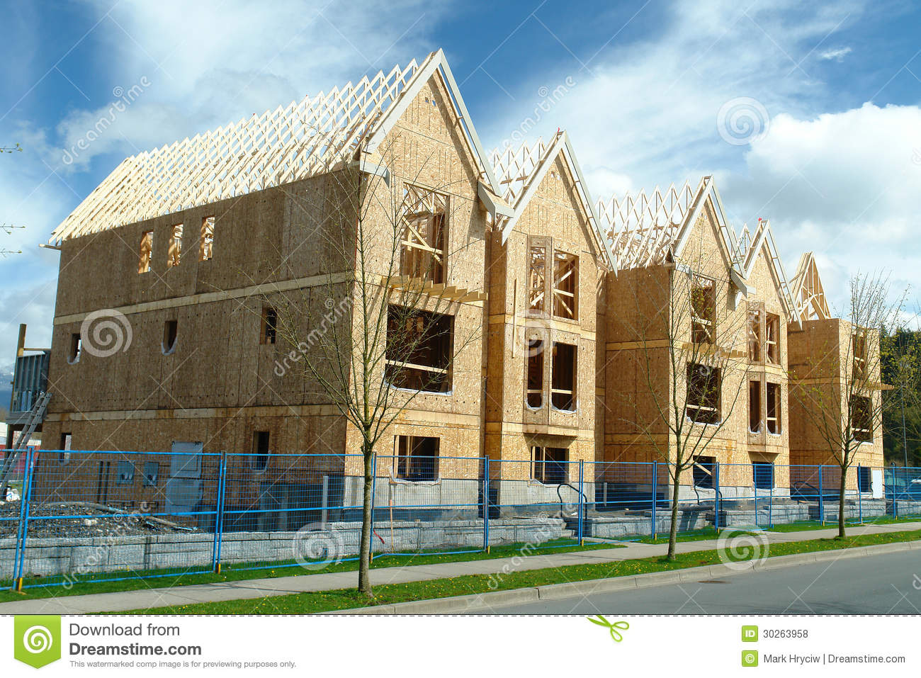 Row houses under construction stock photo image 30263958 for New house project