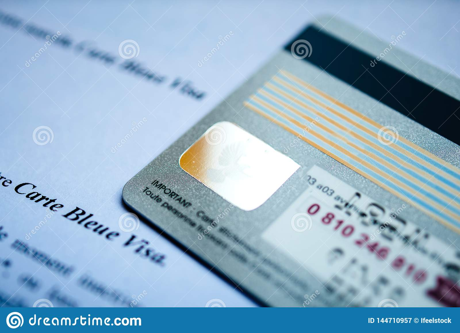 New HSBC Visa Debit Card With Visa Hologram Back Editorial