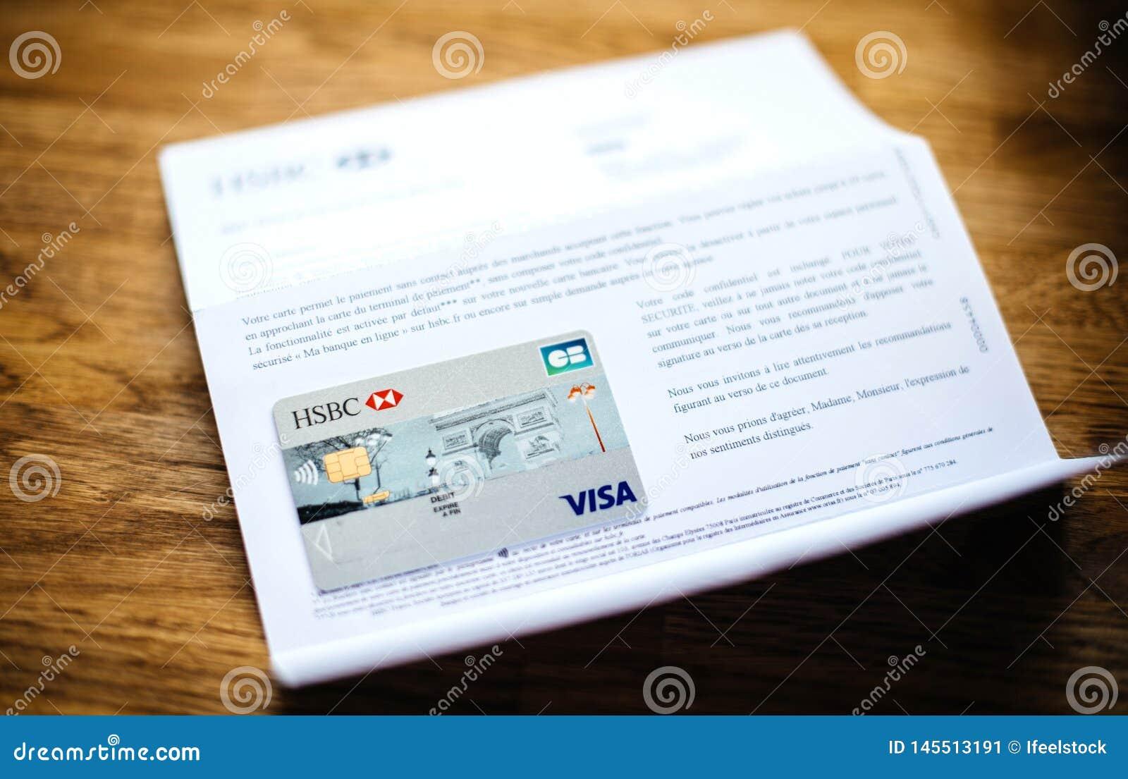 New Hsbc Visa Debit Card Editorial Photo Image Of Commerce 145513191