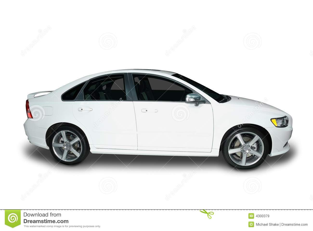 New Hybrid Car Stock Image Image Of White Tires Door 4300379
