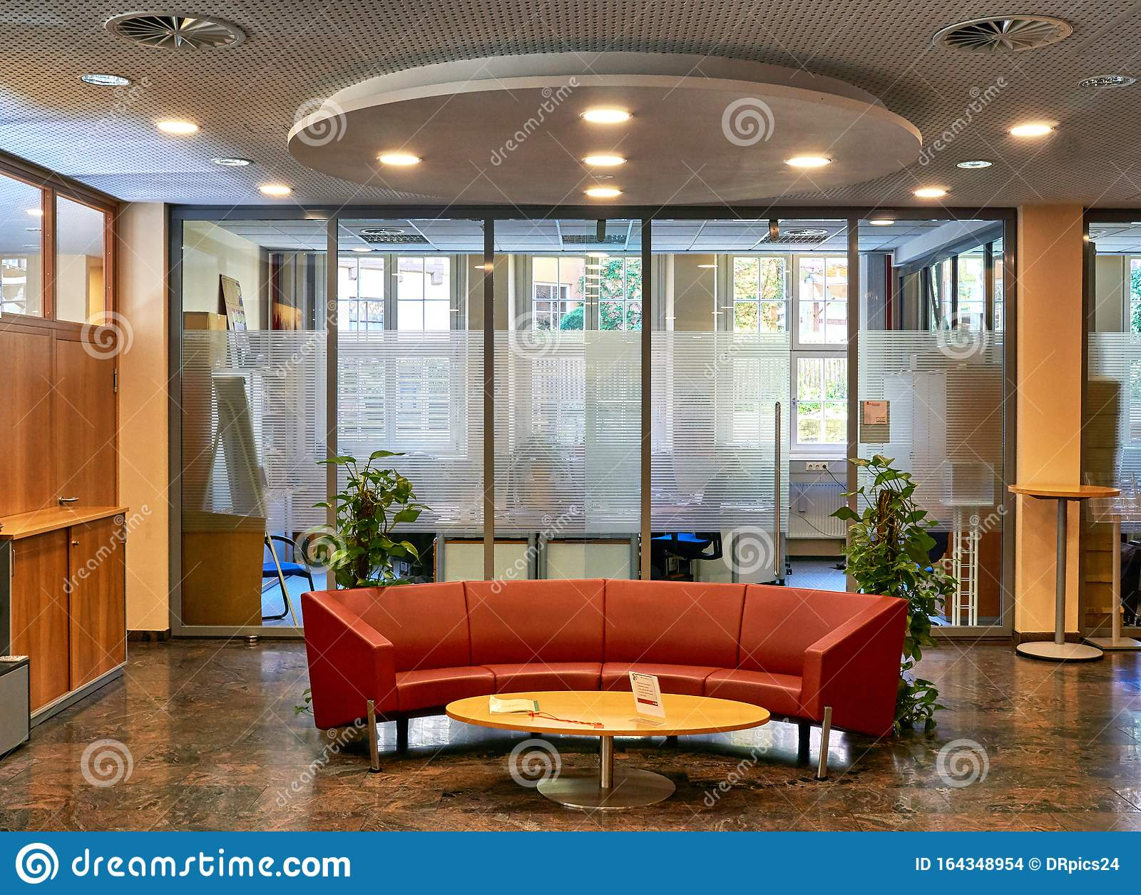 New Ideas For Modern Office Furniture With Reception Stock Photo Image Of Company Decor 164348954