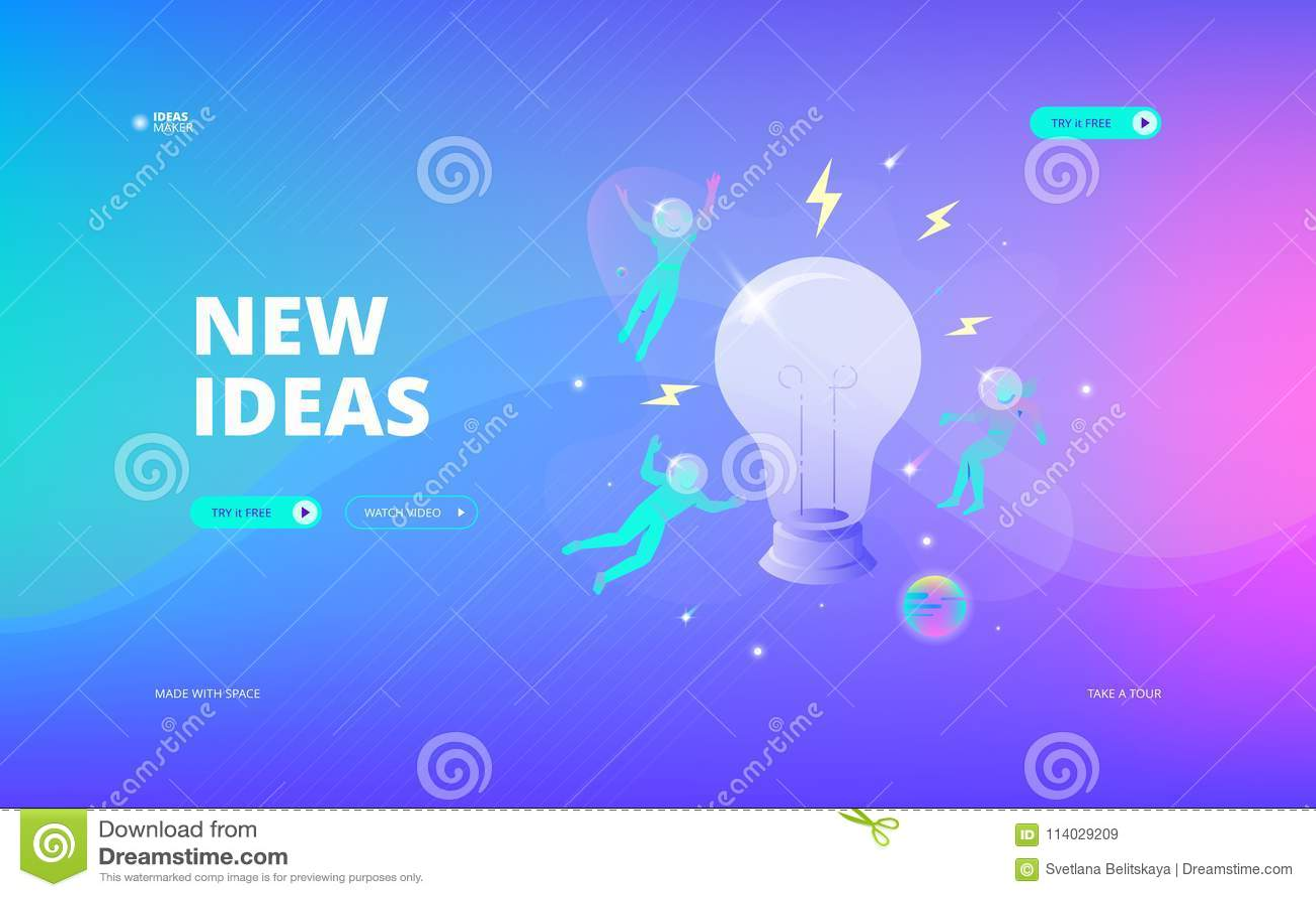 New ideas web banner stock vector  Illustration of cosmic