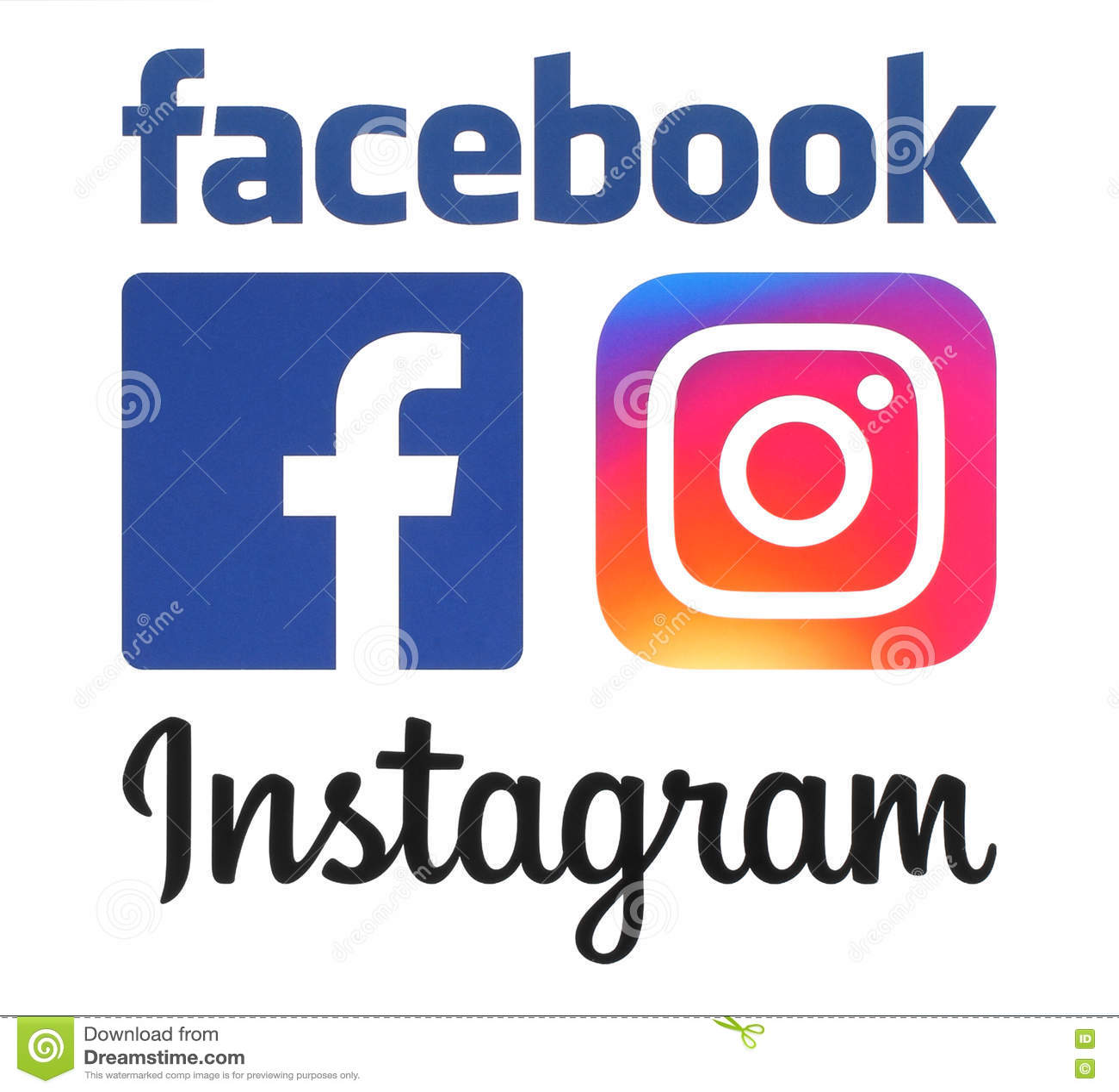 new instagram and facebook logos editorial photo illustration of communication illustrative. Black Bedroom Furniture Sets. Home Design Ideas