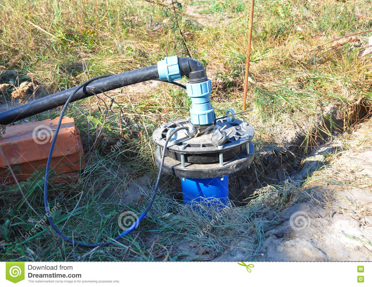 Download New Installed Water Borehole. New HouseWater Borehole Drilling For Water Supply. Bore Water Installation, Bore Pumps Stock Image - Image of borehole, pumps: 74561847