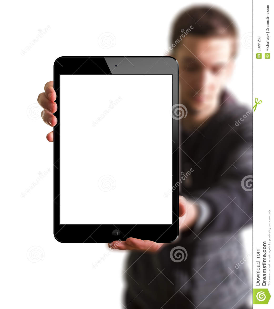A New Ipad In Hands Editorial Stock Photo Image 35891268