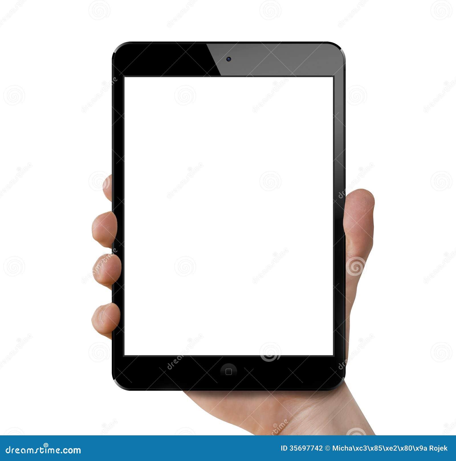 Holding an Ipad mini retina