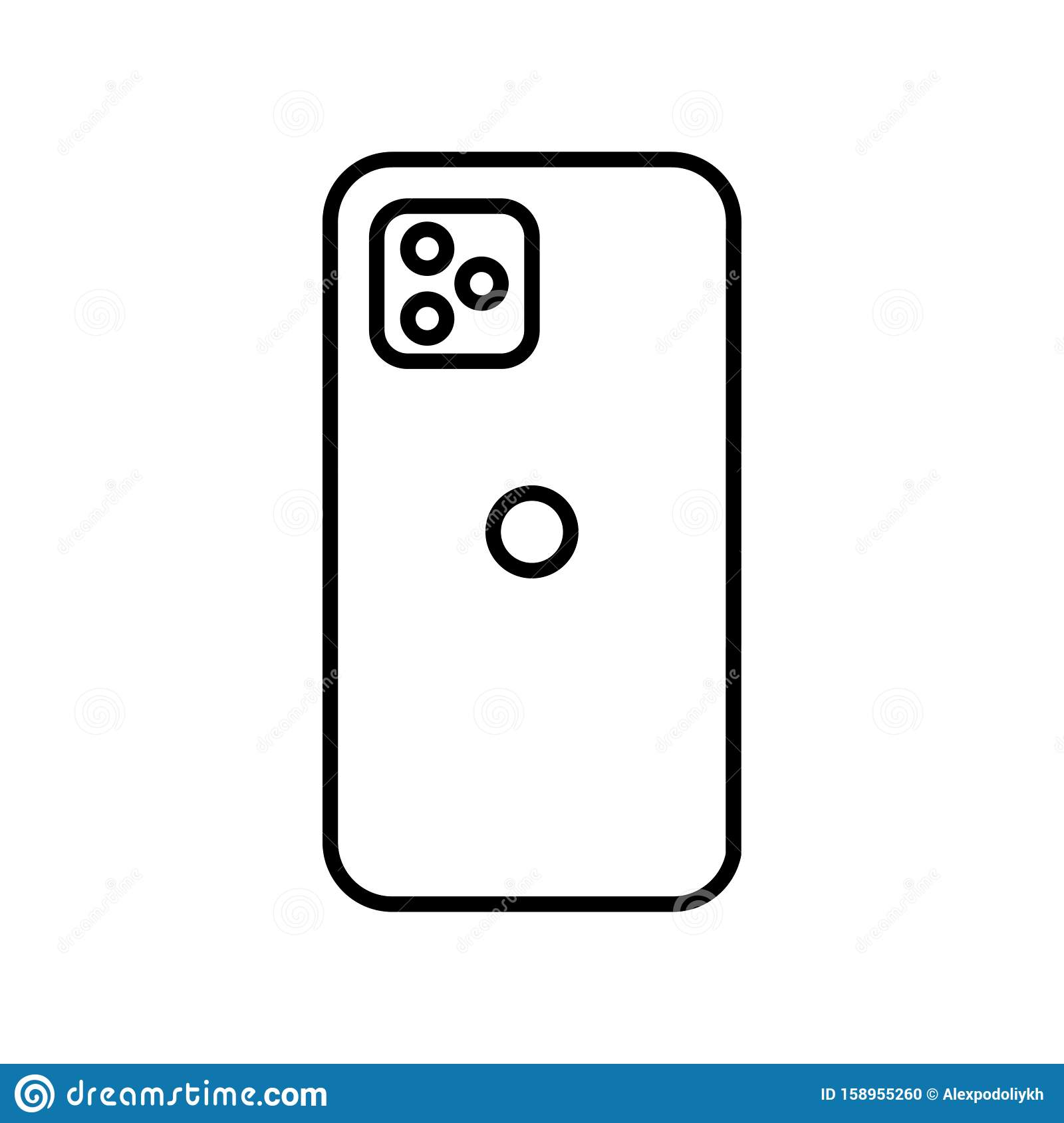 New Iphone 11 Pro Max Line Icon Smartphone Vector Graphic Illustration Isolated On White Background Material Design Ui Ux Editorial Image Illustration Of Black Line 158955260