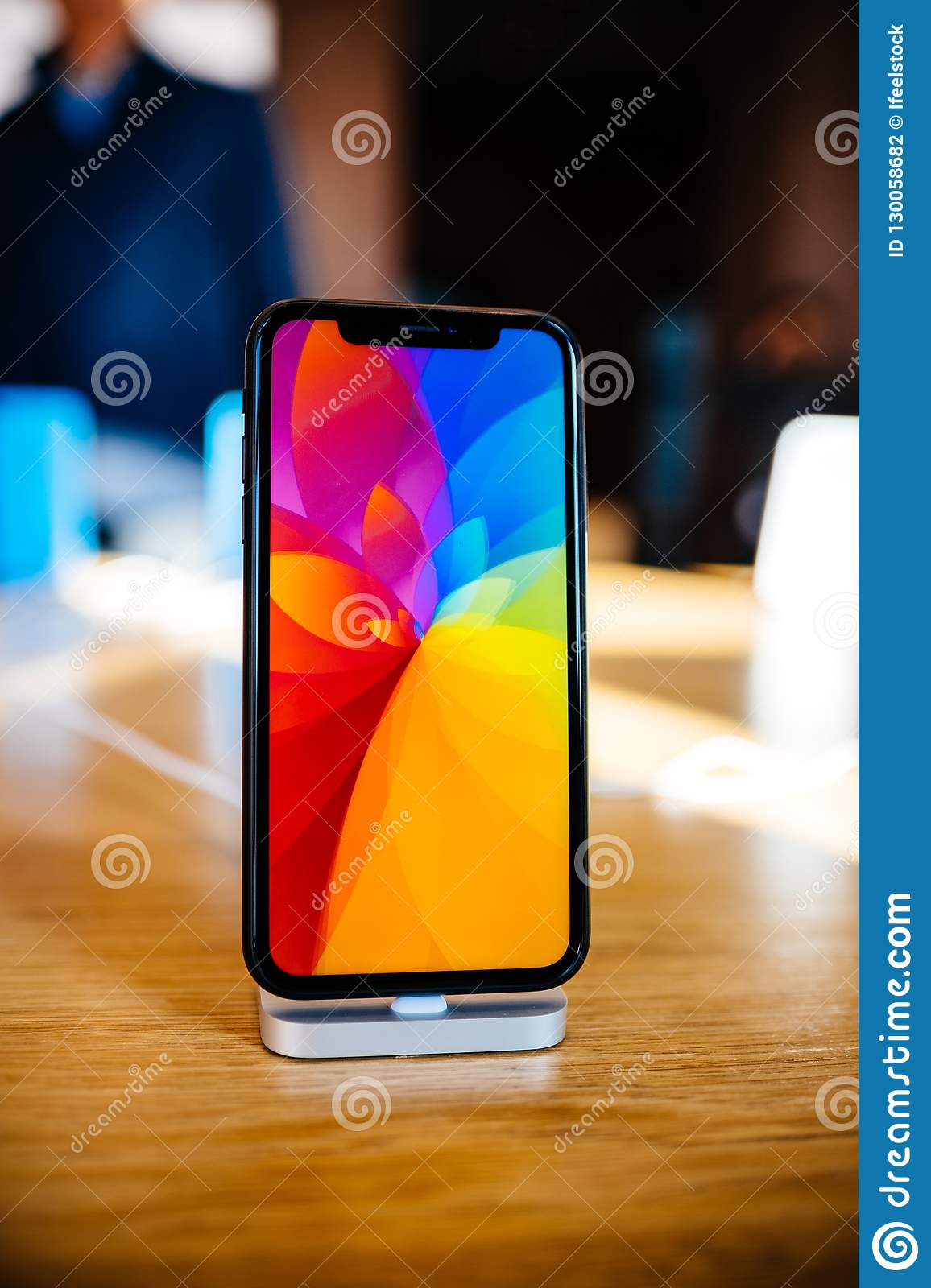 New Iphone Xr Rainbow Screensaver Editorial Photography - Image of