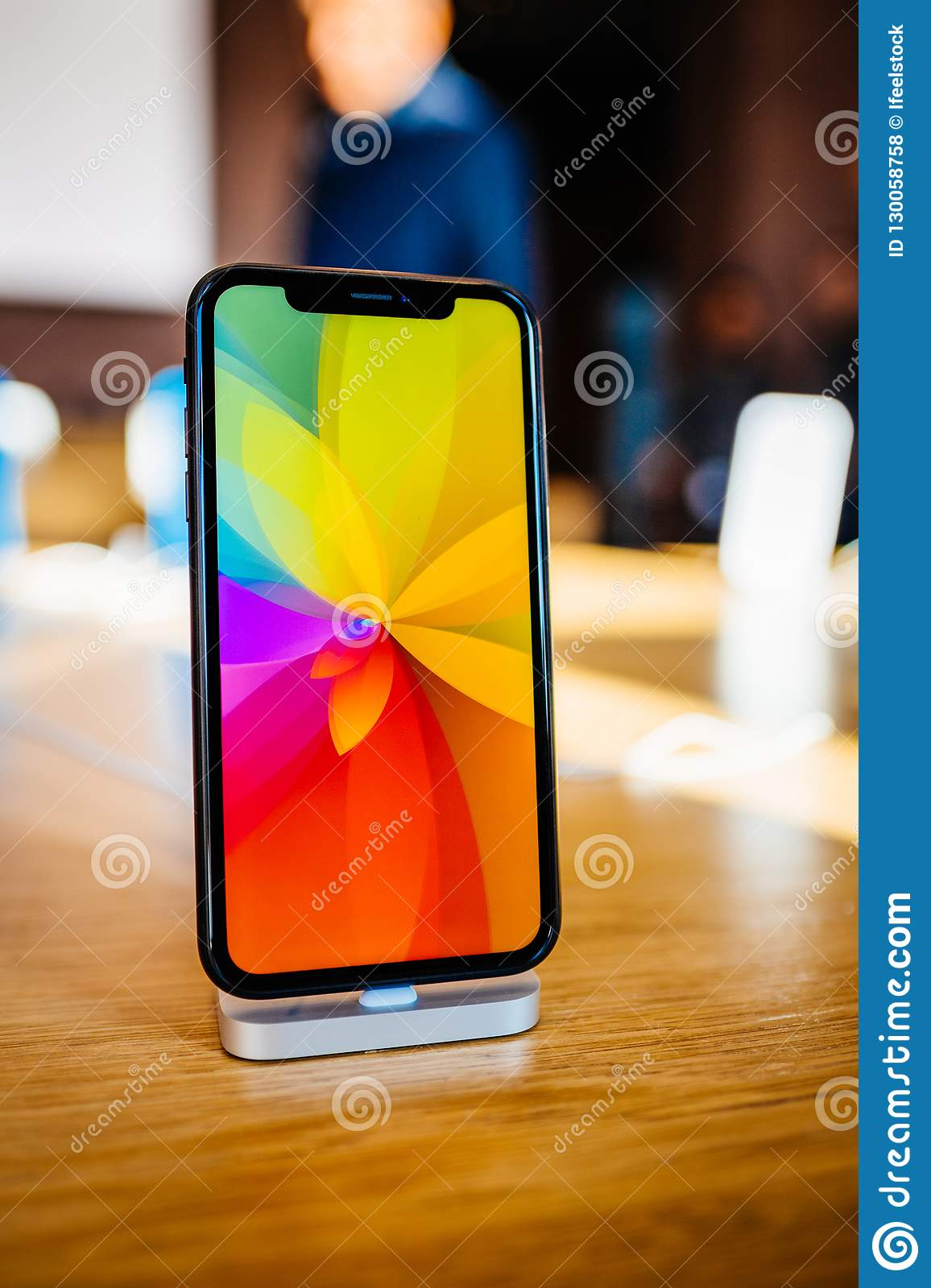 New Iphone Xr Rainbow Screensaver Editorial Stock Photo - Image of