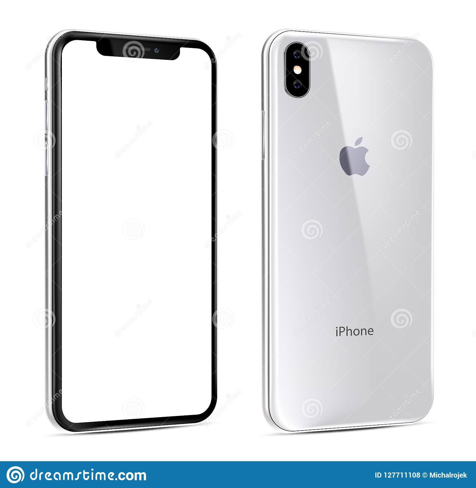 New Iphone Xs White View At An Angle Editorial Stock Photo