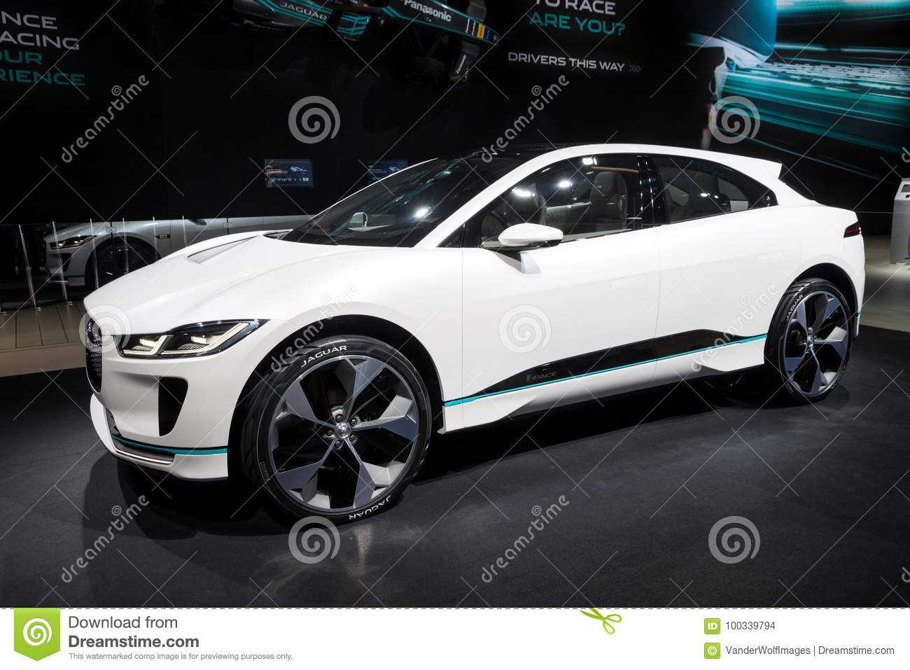 New 2018 Jaguar I Pace Concept Electric Car Editorial Stock Image Image Of Modern Model 100339794