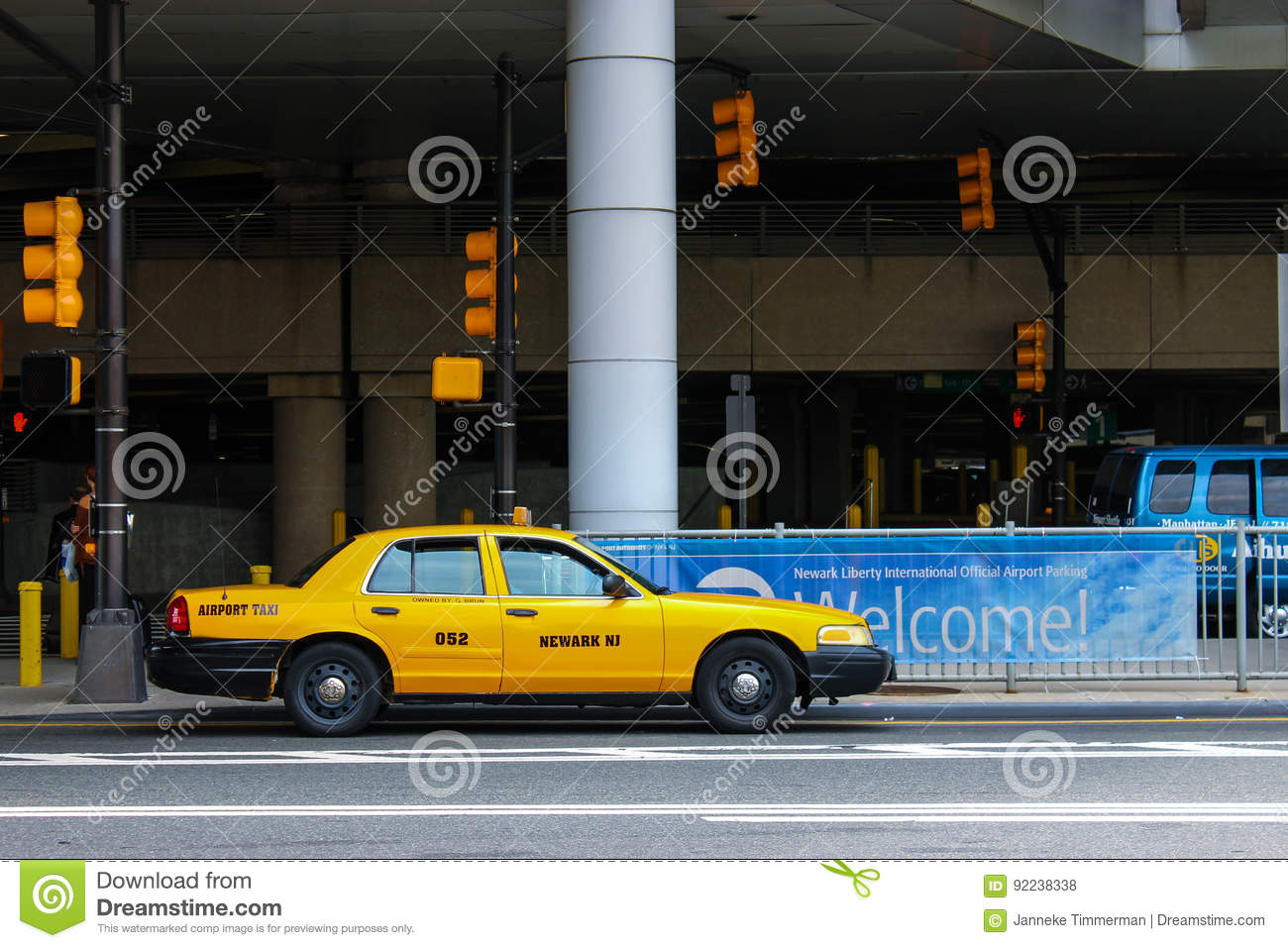 New Jersey cab editorial stock photo  Image of city, yellow