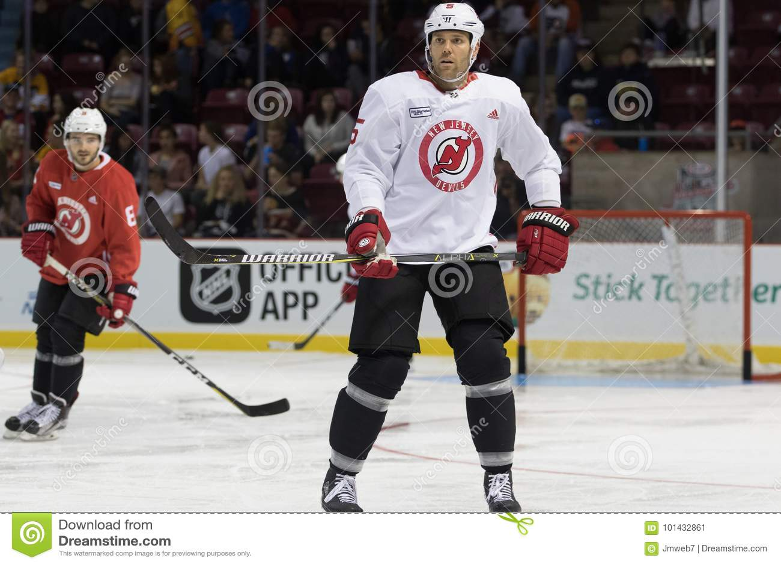 buy popular 5d324 e150d New Jersey Devils Hockey Player Dalton Prout Editorial Photo ...