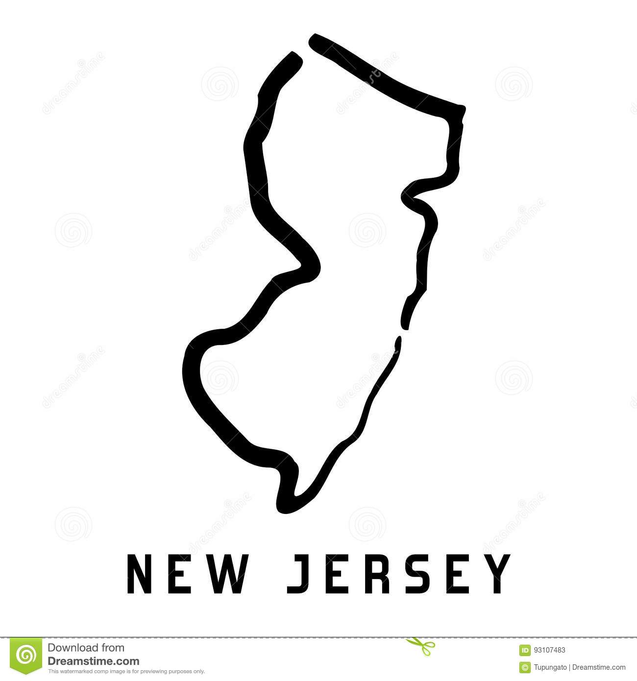 New Jersey Stock Vector