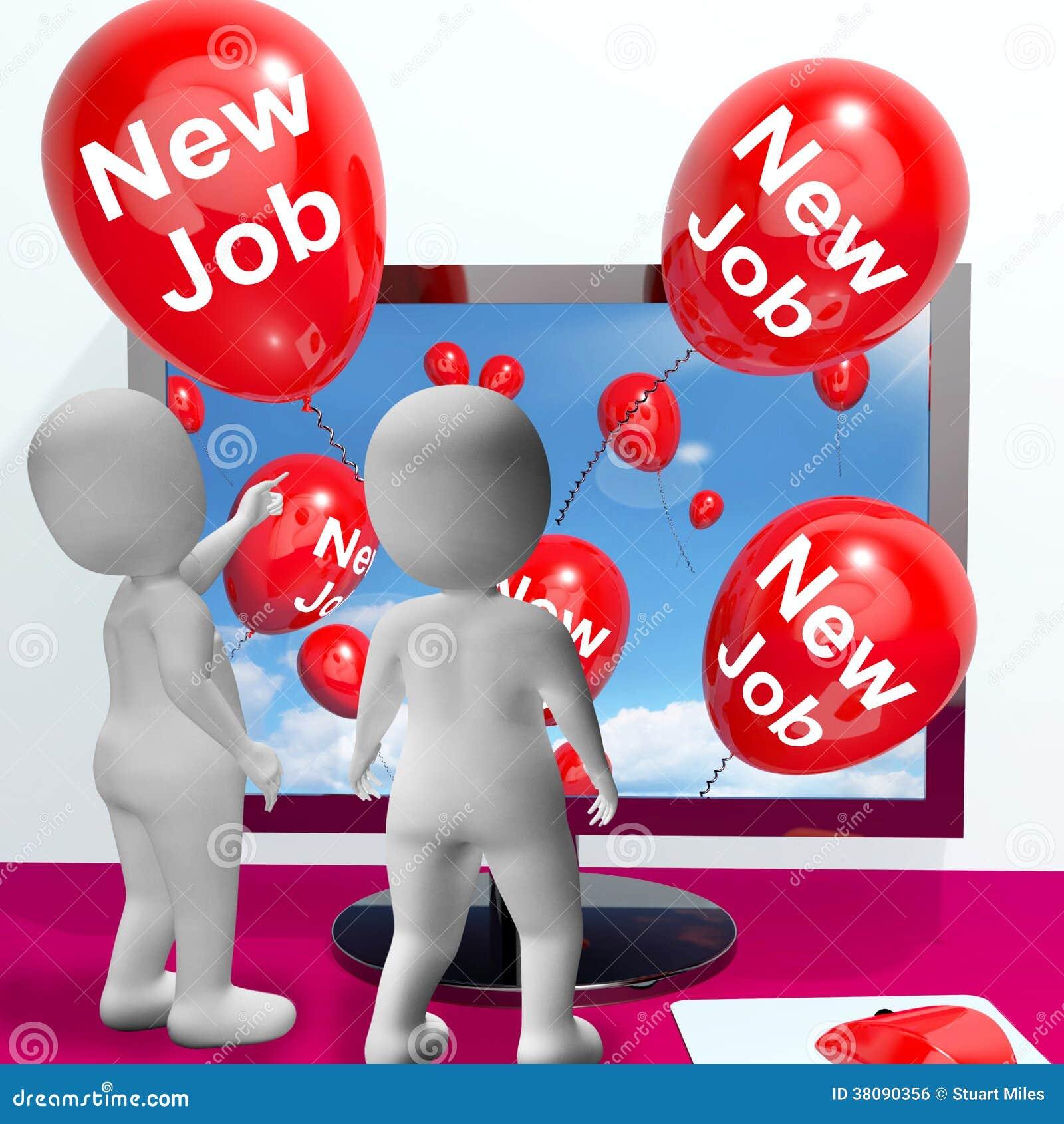 New job balloons show online congratulations stock illustration new job balloons show online congratulations thecheapjerseys Images