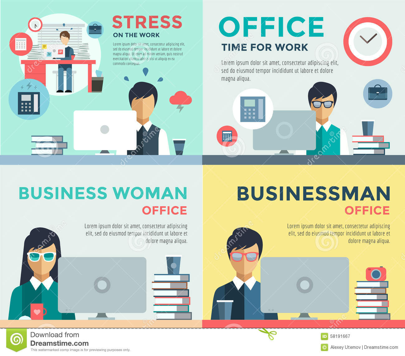 new job search and stress work infographic stock vector image new job search and stress work infographic