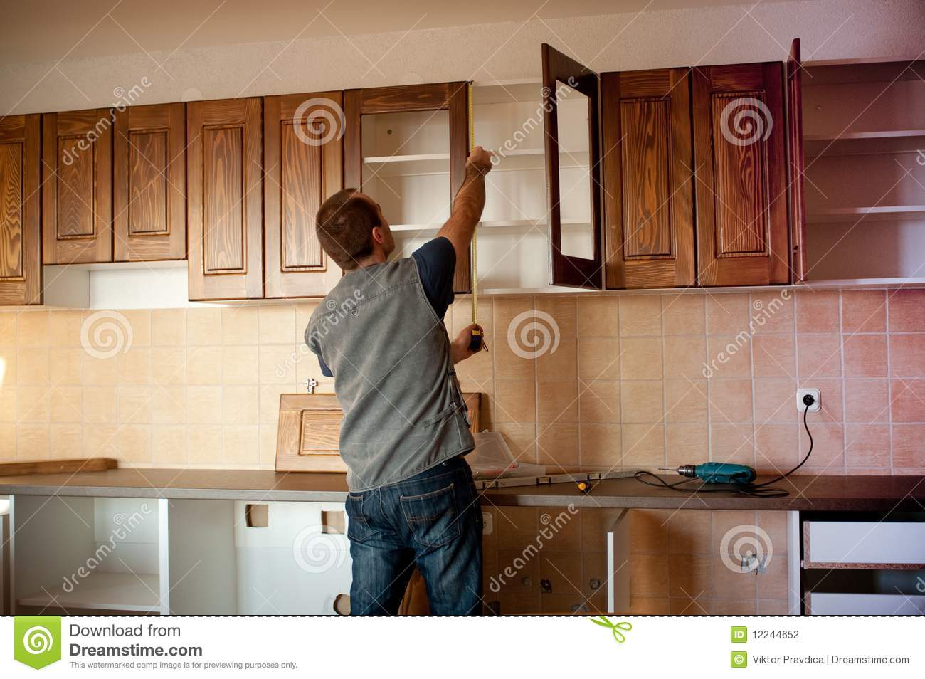 For A New Kitchen New Kitchen Stock Photography Image 12244652