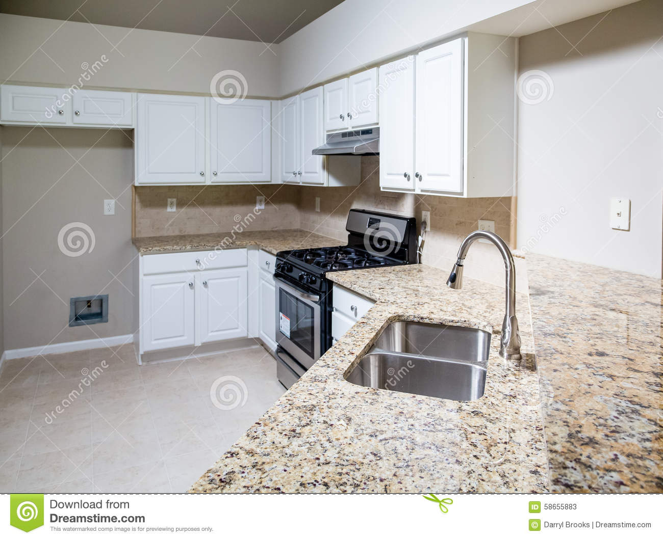 New kitchen with granite countertop and stainless steel for Stainless steel countertops cost per sq ft