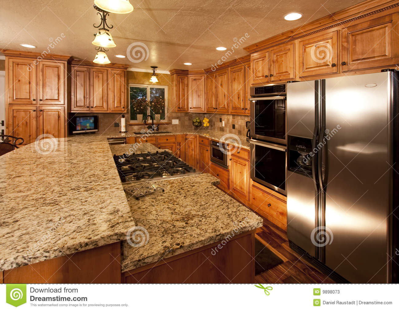 New Kitchen New Kitchen Island Stock Photos Image 9898073