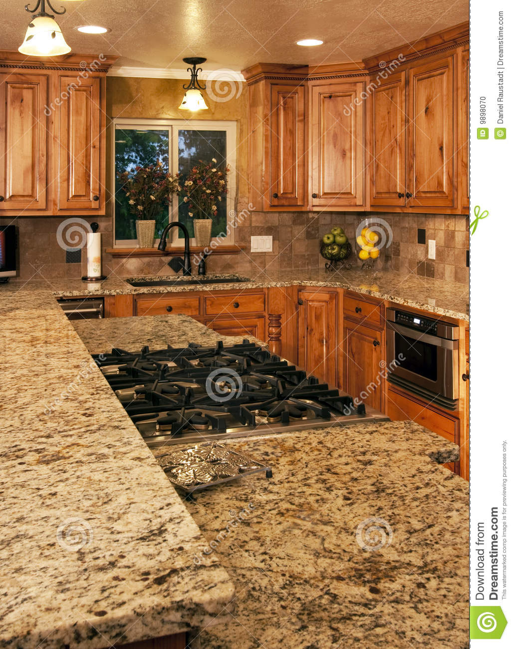 New kitchen two level center island stock photo image for Two level kitchen island