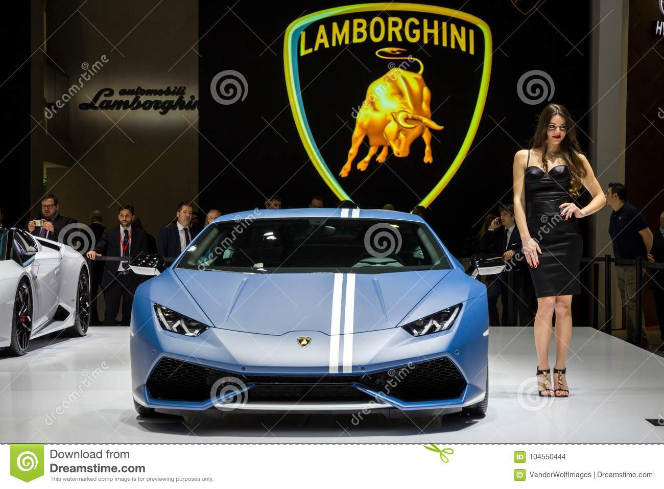 New Lamborghini Huracan Avio Lp 610 4 Sports Car Editorial Stock