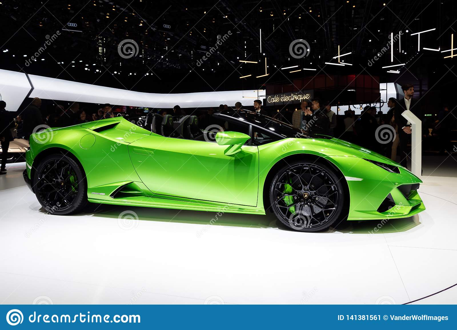 New 2019 Lamborghini Huracan Evo Spyder Supercar Editorial Photo
