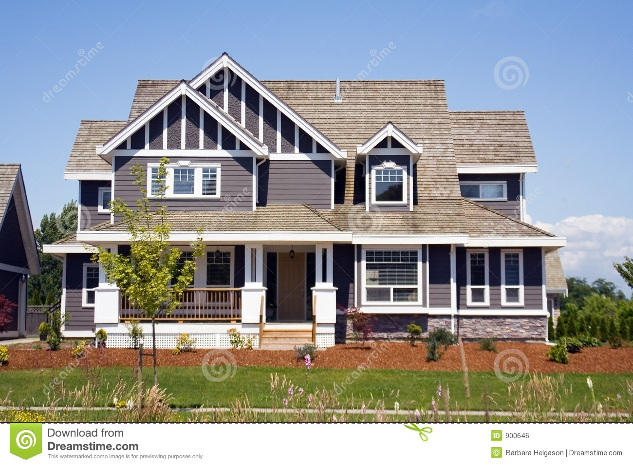 New large country house royalty free stock image image - Maison de la literie plan de campagne ...