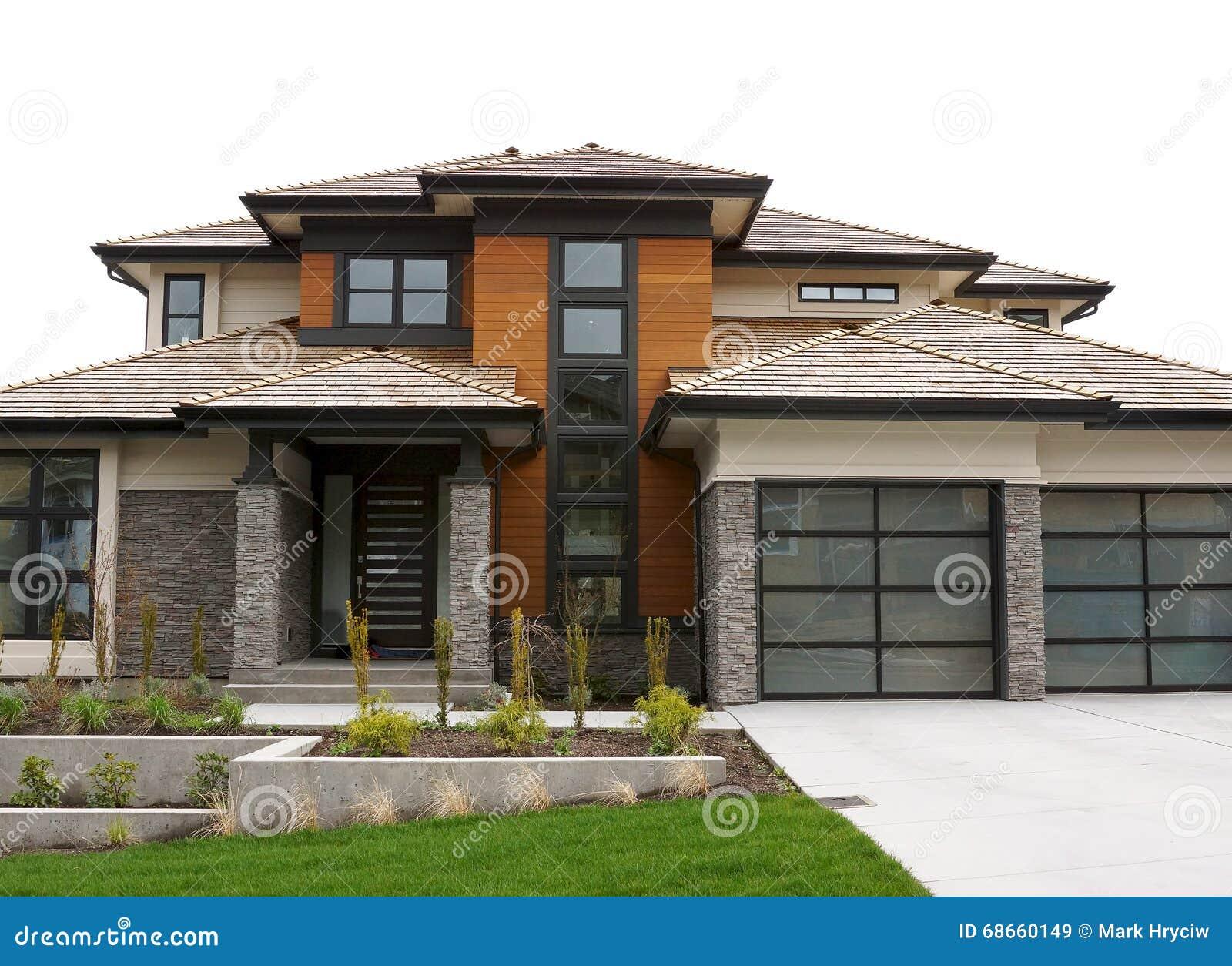 New large custom home exterior stock photo image 68660149 for Custom home photos