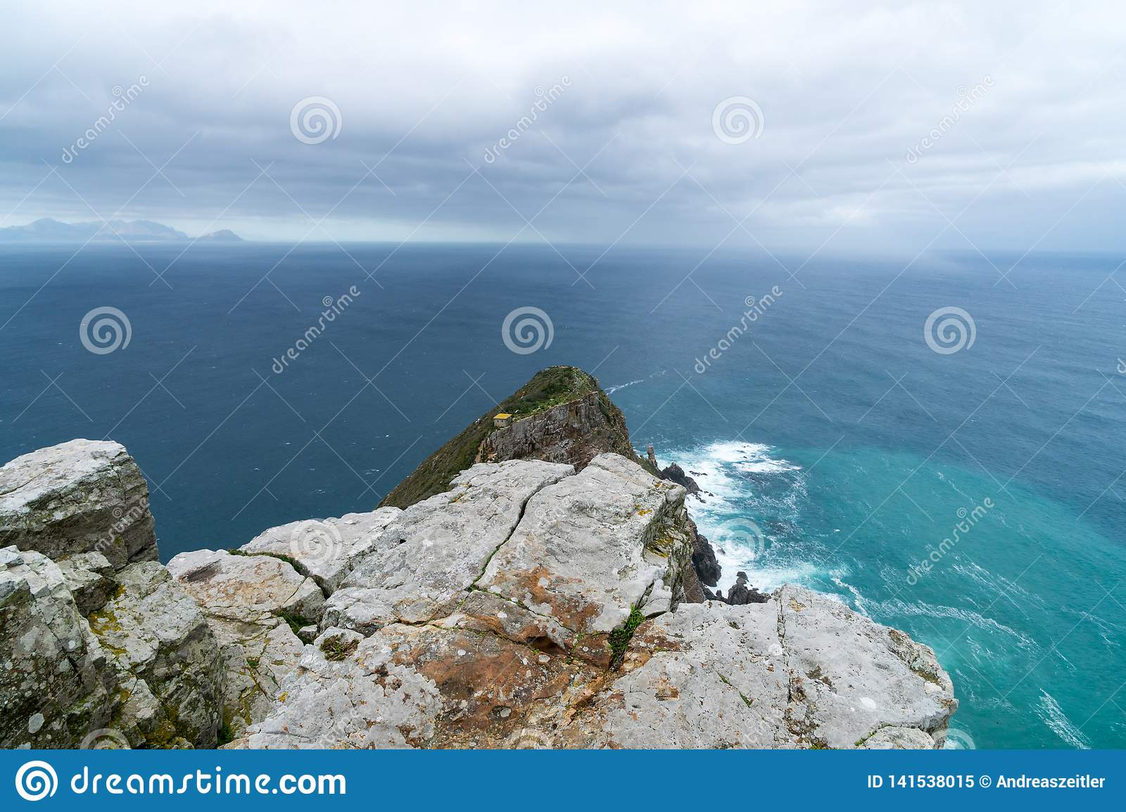 The new lighthouse of Cape Point in Cape of Good Hope Nature Reserve in Cape Peninsula, Western Cape, South Africa