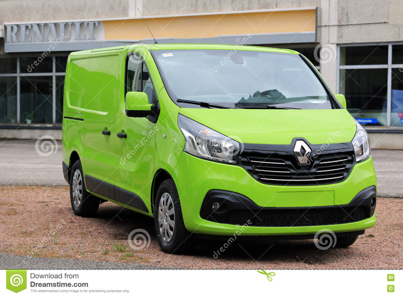 new lime green renault trafic van editorial photo image. Black Bedroom Furniture Sets. Home Design Ideas