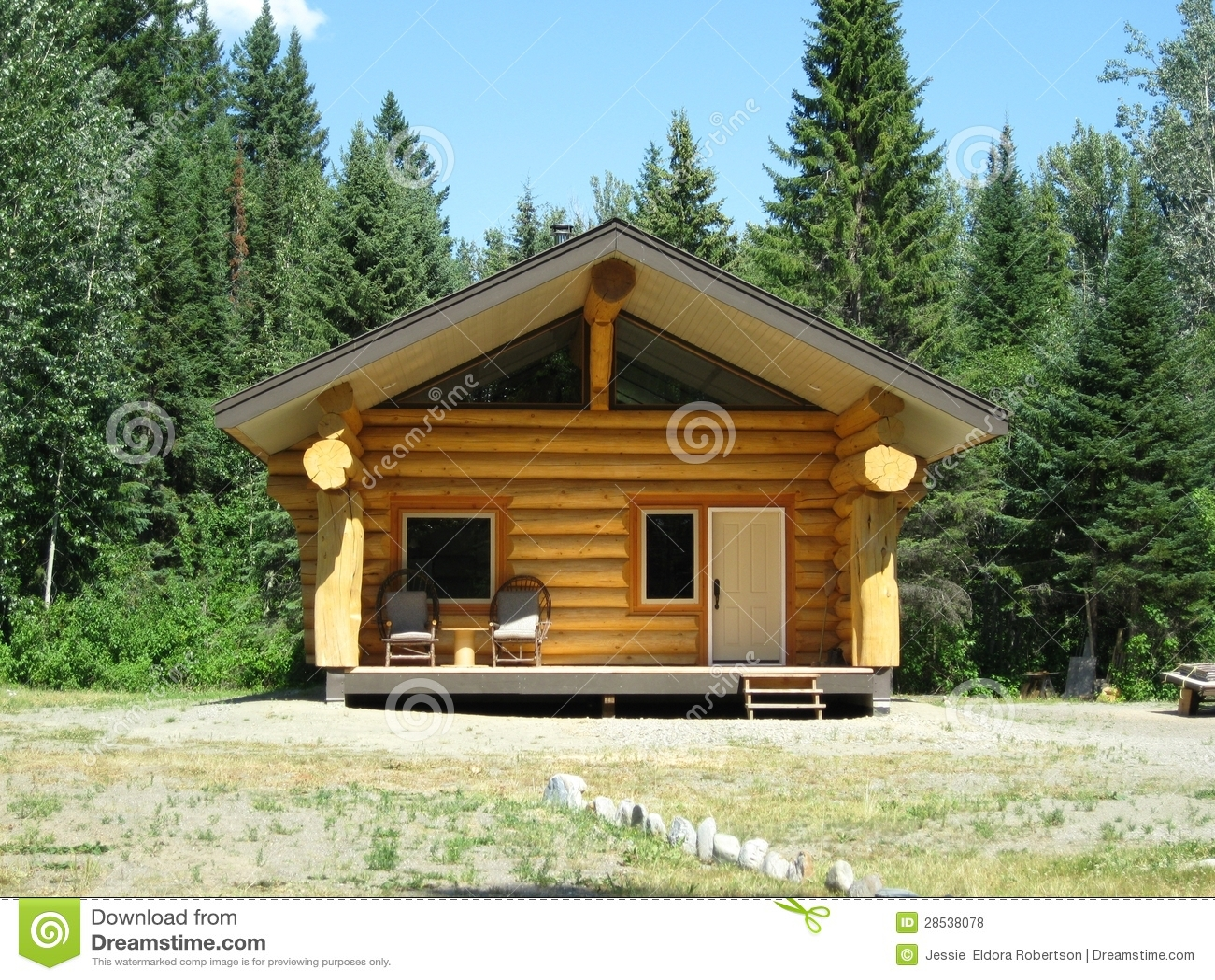 New Log Cabin Royalty Free Stock Photos Image 28538078