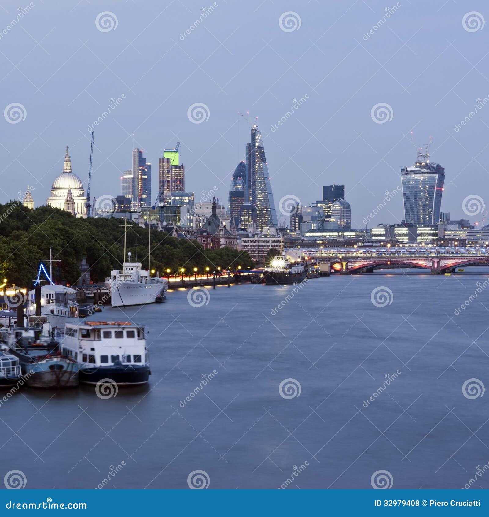 new london skyline 2013 royalty free stock photos