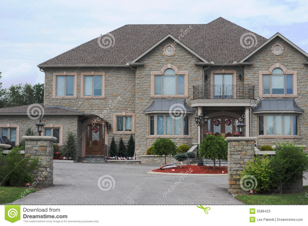 New luxury brick house stock image image of mansion for New brick homes
