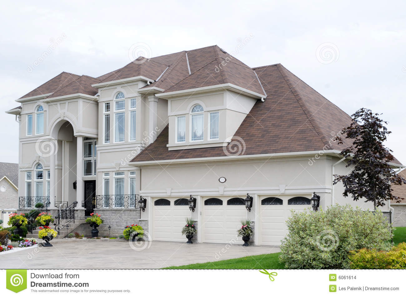 New luxury house stock photo image of mansion flowers for What is a luxury home