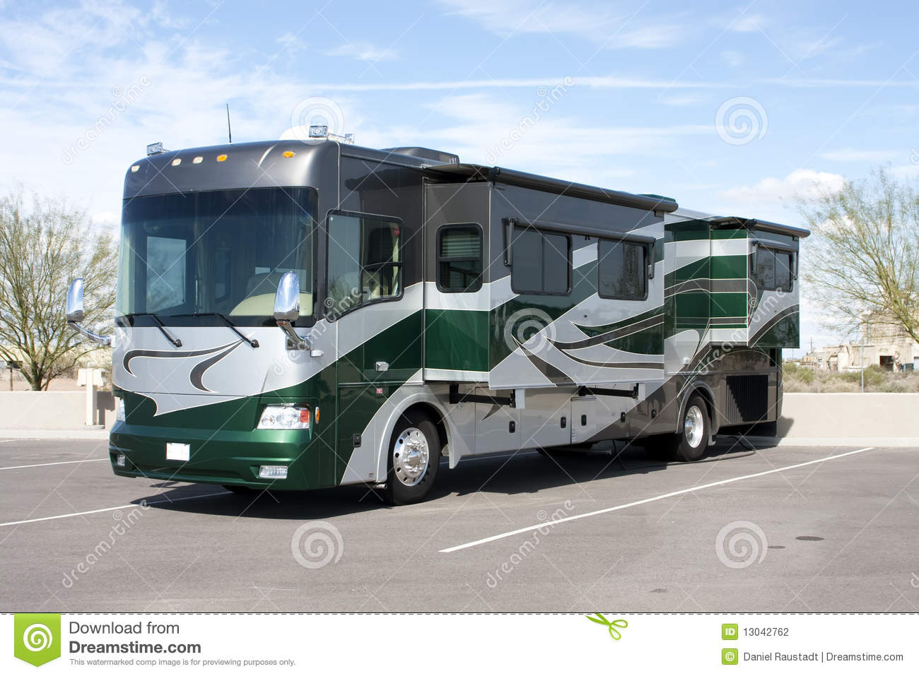 New Luxury Motor Home RV Coach Stock Photography