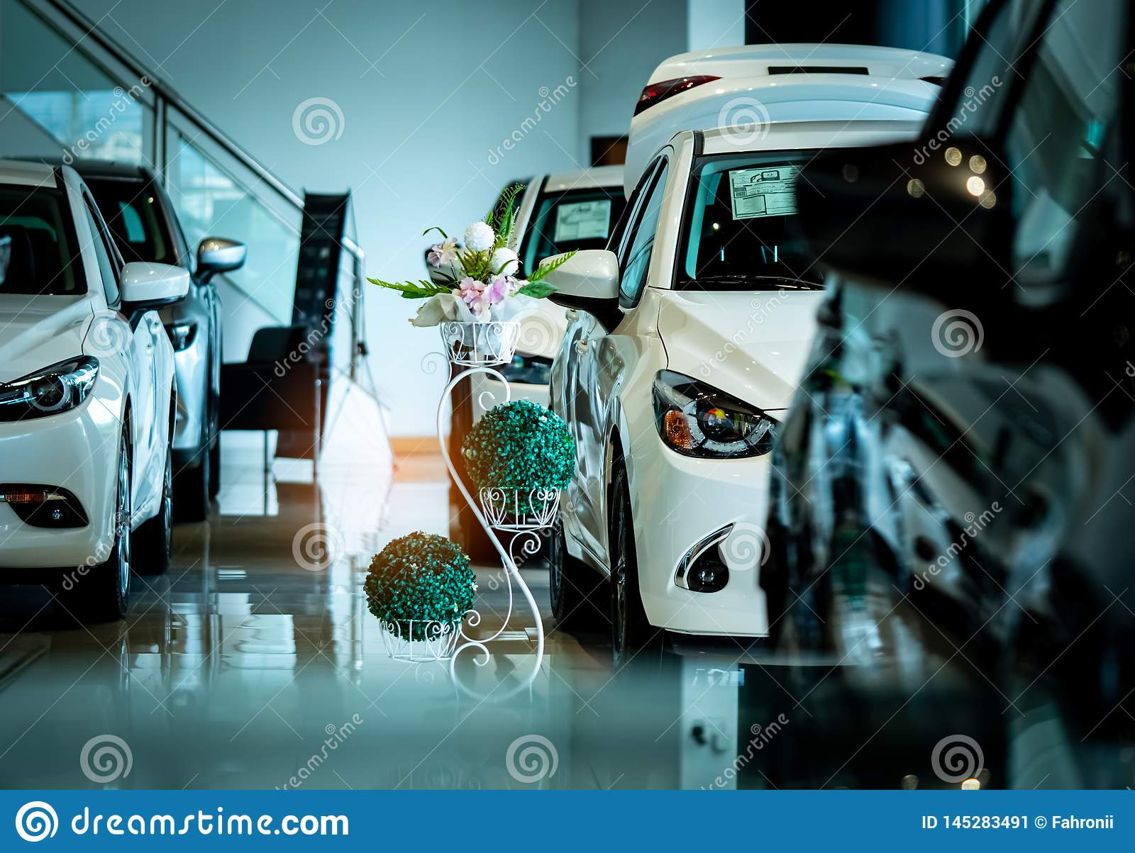 New Luxury Shiny Compact Car Parked In Modern Showroom Car Dealership Office Car Retail Shop Electric Car Technology Stock Image Image Of Industrial Concept 145283491