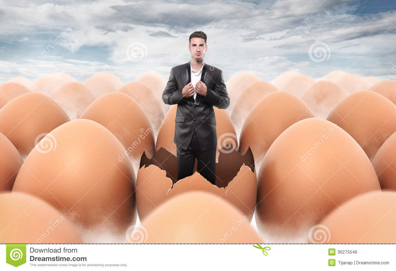new-man-born-egg-shell-over-sky-backgrou