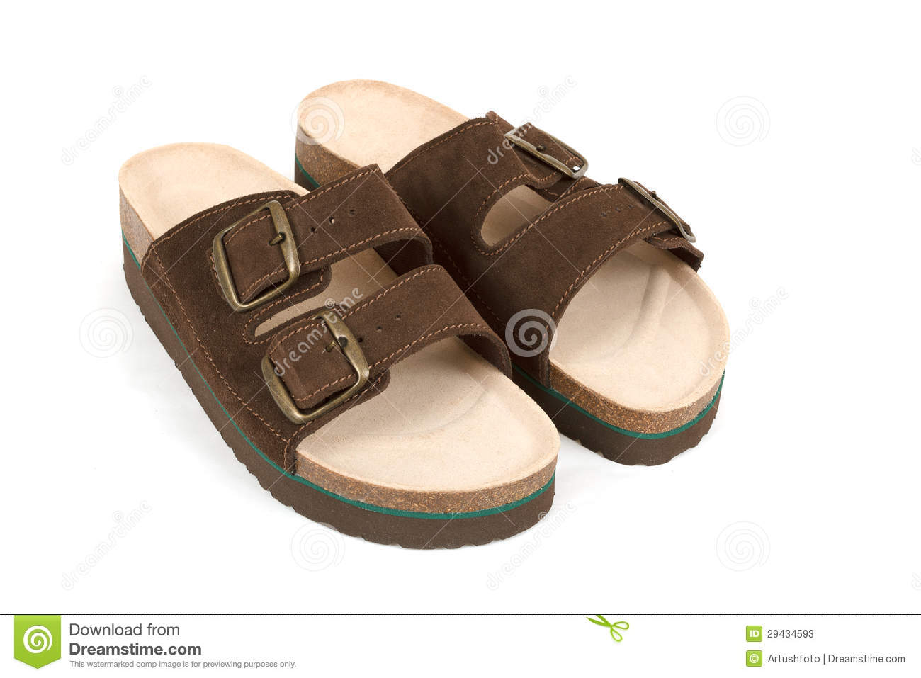 6616d84ab6770 New Men s Sandals Isolated On White Stock Image - Image of nobody ...