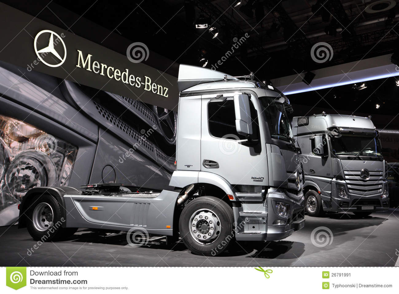New mercedes benz actros trucks editorial photo image for The new mercedes benz truck