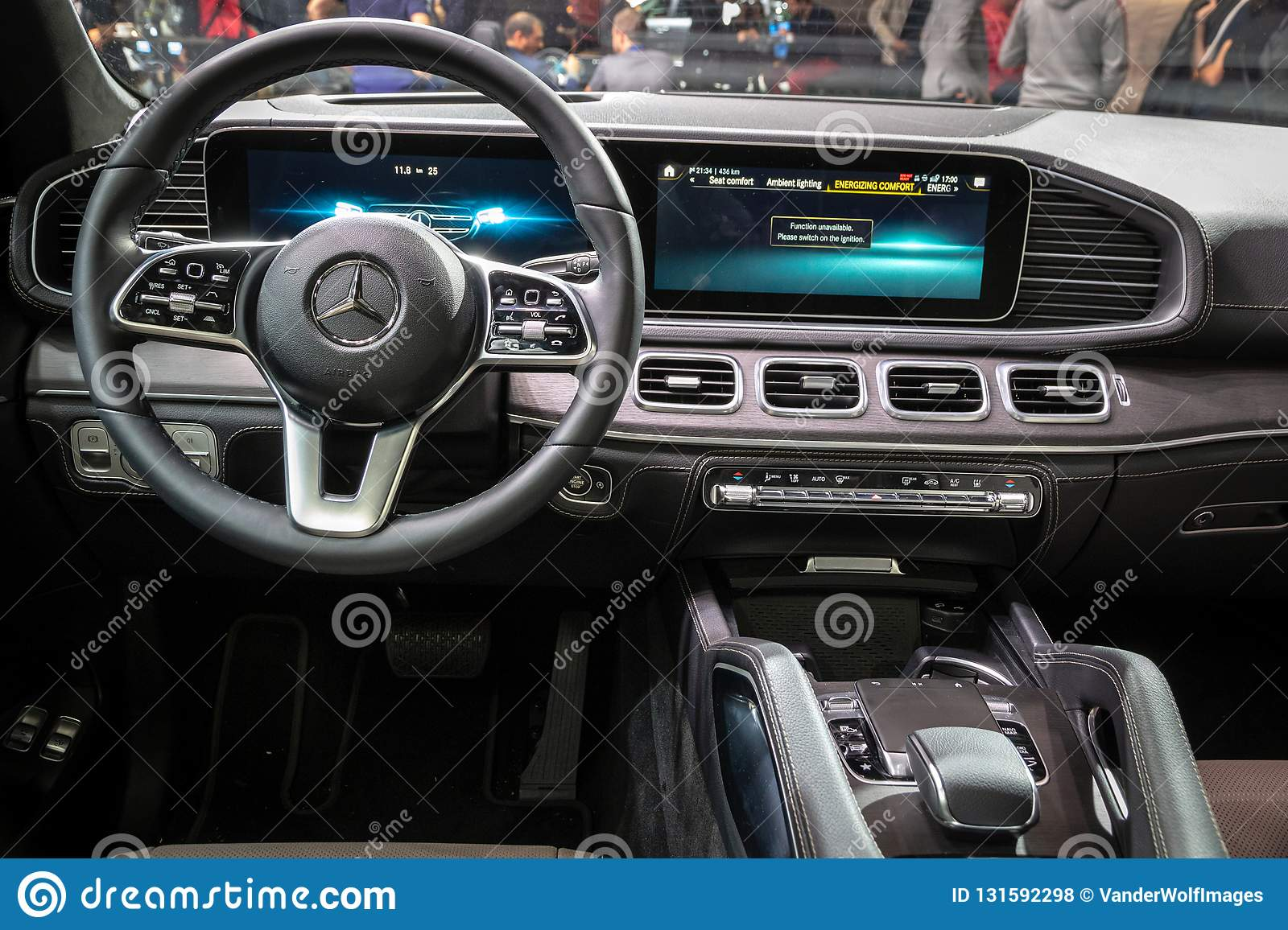 New 2020 Mercedes GLE 300d 4MATIC Car Interior Showcased At The