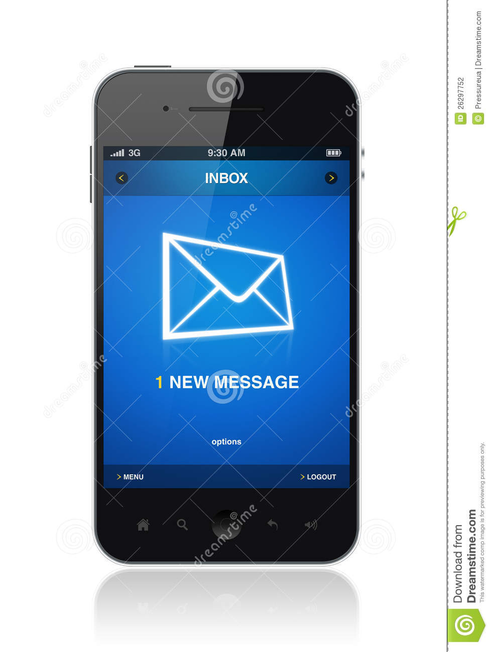 New Message On Mobile Phone Stock Photography - Image: 26297752